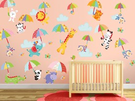 Fisher-Price Umbrella Animal Wall Decals