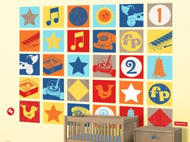 Fisher-Price Vintage Toy Wall Decal Set