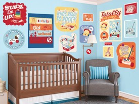 Fisher-Price Vintage Sign Wall Decal Set