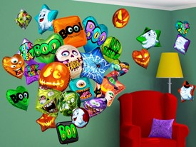 Halloween Party Balloon Wall Decal Set 2
