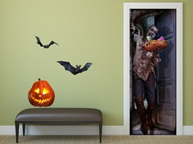Zombie Trick or Treat Wall Decal