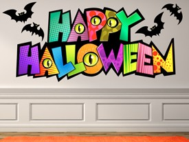 Happy Halloween Colorful Wall Decal