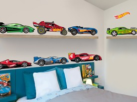 Exceptional Hot Wheels Cars Wall Decal Set