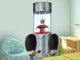 Minions Steal Crown Jewels Wall Decal