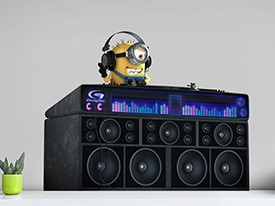 Minions DJ Booth Wall Decal
