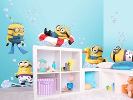 Minions Bath Time Wall Decal Sets