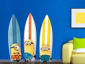 Minions Surfboard Wall Decal Set