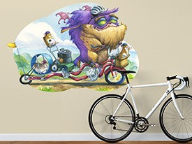 Monster Bike Wall Decal