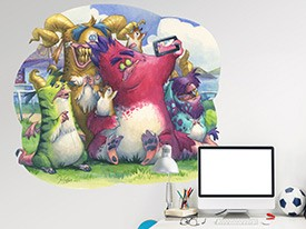 Monster Selfie Wall Decal
