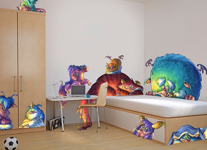 Monsters Peek-A-Boo Wall Decal
