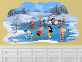 Peanuts Ice Skating Wall Decal