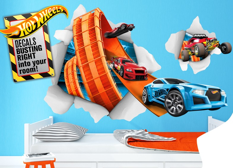 Hot Wheels Wall Decals