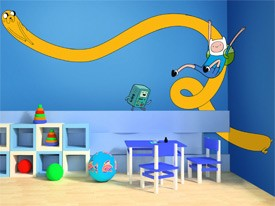 Adventure Time Stretch Wall Decal