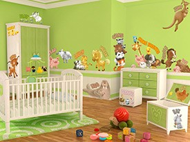 Animals Playing Wall Decal Set