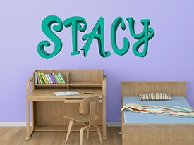 Customizable Curly Font Wall Decals