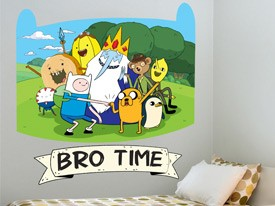 Adventure Time Bro Time Wall Decal