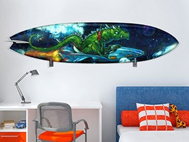 Alien Surfboard Wall Decal
