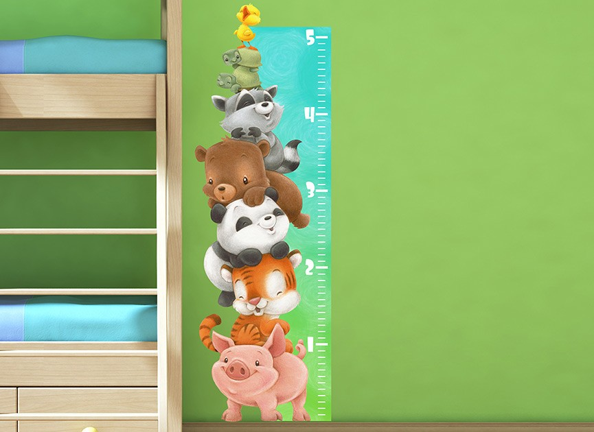 Animal Growth Chart Wall Decal
