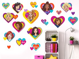 Barbie Heart Shaped Wall Decal Set