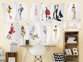 Barbie Fashion Design Wall Decals 2
