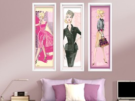 Barbie Framed Art Wall Decals