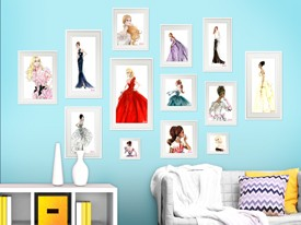 Barbie Framed Fashion Wall Decals Set 2