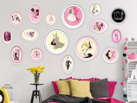 Barbie Framed Artwork Wall Decal Set