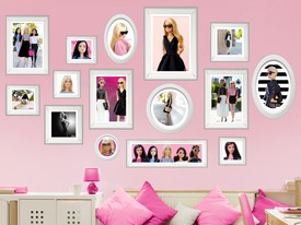 Barbie Framed Fashion Wall Decals Set