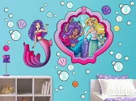 Barbie Mermaid Large Wall Decal Set