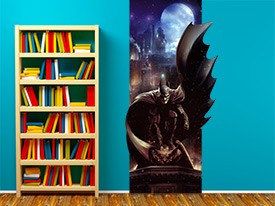 Batman Watches Over Gotham Wall Decal