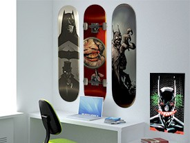 Batman Skateboard Wall Decal Set