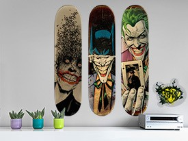 Batman Joker Skateboard Wall Decal Set