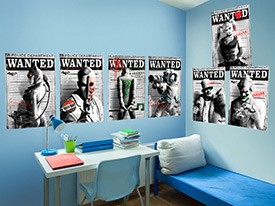 Batman Villain Wanted Poster Wall Decals