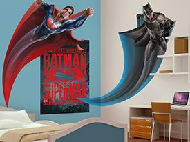 Batman v Superman Flying Wall Decal