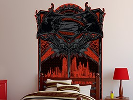 Batman v Superman Headboard Wall Decal