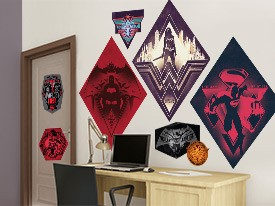 Batman v Superman Symbols Wall Decal