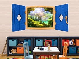 Fairy Tale Window Wall Decal