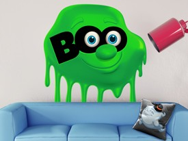 Halloween Boo Slime Wall Decal