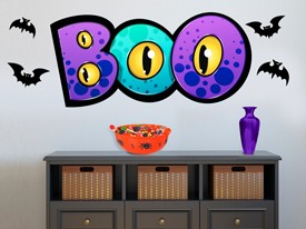 Halloween Monster Boo Wall Decal