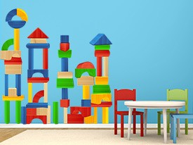 Building Blocks Wall Decal Set