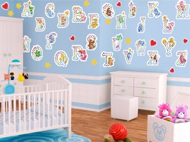 Care Bear Alphabet Wall Decals