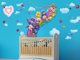 Care Bears Rainbow Bike Wall Decal