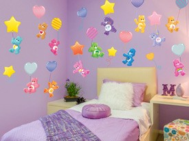 Care Bears Ballooning Wall Decals Set