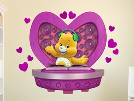Care Bear Funshine Bear DJ Wall Decal