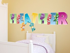 Customizable Care Bear Wall Decals