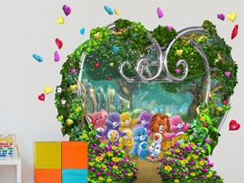 Care Bears Garden Wall Decal