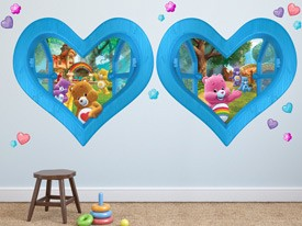 Care Bear Heart Window Wall Decals