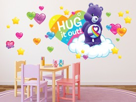 Care Bears Hugs & Rainbows Wall Decal Set