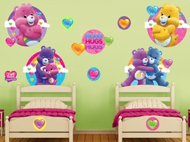 Care Bears Glitter Hearts Wall Decal Set