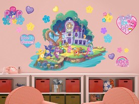 Care bears wall decals and wall graphics shop wall ah for Care bears wall mural